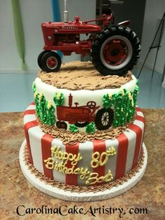 Hand Painted tractor cake!