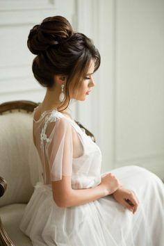 schöne frisuren für hochzeit elegente hochsteckfrisur für langes glattes haar