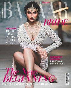 Parineeti Chopra is on the cover of this month's Harper's Bazaar Bride wearing a Temperley London dress paired with traditional bridal jewellery and white henna looking like an actual goddess. Sonam Kapoor, Deepika Padukone, Bollywood Celebrities, Bollywood Actress, Bollywood Fashion, Bollywood Girls, Indian Bollywood, Temperley London Dress, Sexy Back