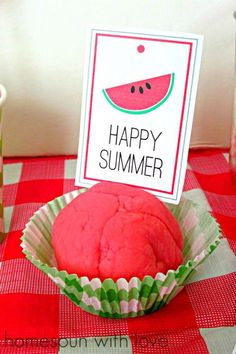 Watermelon play dough! Perfect for the summer.