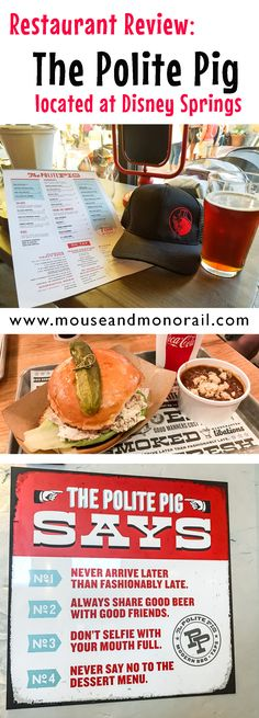 Have you ever wanted modern bbq while visiting Walt Disney World? Well, then look no further than Disney Springs' own bbq gem called the Polite Pig! Best Disney World Restaurants, Disney World Food, Disney World Florida, Disney World Planning, Disney World Vacation, Disney World Resorts, Disney Vacations, Disney Trips, Walt Disney World
