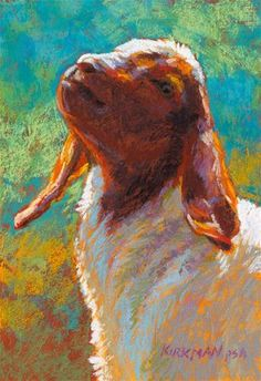 Gumshu the Goat - pastel by ©Rita Kirkman (via DailyPaintworks)