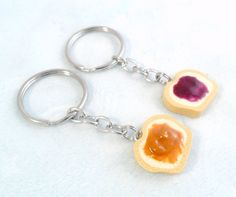 Peanut Butter Jelly Keychain Set, Best Friend's Keychains, Cute :D. $9.00, via Etsy.