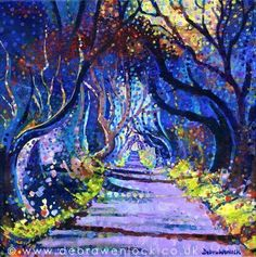 Buy Dark Hedges – Black Magic, Acrylic painting by Debra Wenlock on Artfinder. Discover thousands of other original paintings, prints, sculptures and photography from independent artists. Acrylic Art, Acrylic Painting Canvas, Canvas Paintings, Magical Tree, Dark Tree, Game Of Thrones Art, Tree Canvas, Irish Art, Art For Art Sake