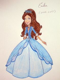 Barbie as The Princess and the Pauper/The Princess and the Big Bad Wolf - Erika her new gown