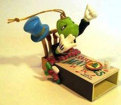 Amazon.com - Enesco Treasury of Christmas Ornaments Jiminy Cricket - All Tucked In 1995 - Christmas Ball Ornaments