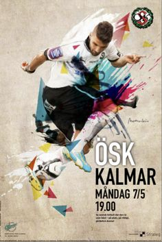 ÖSK football and the player Haddad illustration by Mattias Käll
