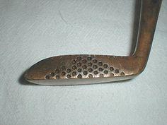 Vintage Wooden Shaft Golf Clubs | ... Vintage OLD Brass BV Putter Hickory Wood Wooden Shaft Golf Club | eBay
