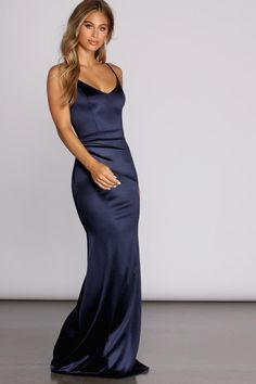 Make it a special occasion with dresses, tops, bottoms & shoes for women from cocktail to birthday outfits, office workwear, prom to wedding dress & more. Satin Gown, Satin Dresses, Tight Dresses, Prom Dresses, Mini Dresses, Blue Formal Dresses, Bond Girl Dresses, Satin Nightie, Club Dresses