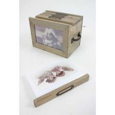 Vintage wooden photo box. Beautiful way to store your picture treasure