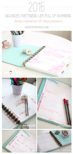 2015 Organized Prettiness, Life Full of Happiness Planner - Zoo Cutie Printables