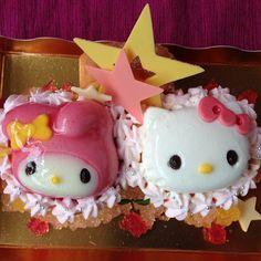 「キティとマイメロ」の七夕限定ケーキが可愛すぎる! ベースはあの堂島ロールだからハズさない美味しさだよ♪