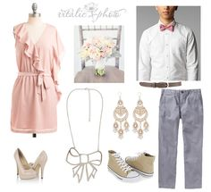 Engagement session outfit ideas, pink ruffle dress, bow tie #vitalicphoto