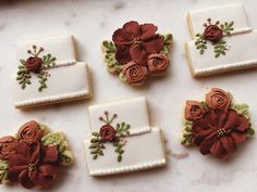 No Flour Cookies, Sugar Cookies, Fall Wedding Colors, Floral Wedding, Wedding Shower Cookies, Cookie Bakery, Cookie Company, Icing Recipe, Royal Icing Cookies