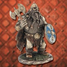 Shorty Viking with Axe Statue