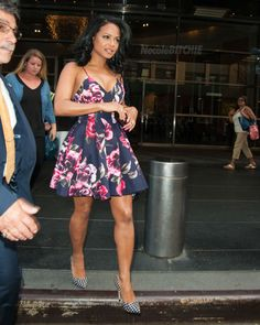 Christina Milian leaves her hotel in New York City