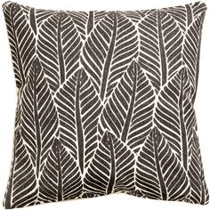 Leaf-patterned Cushion Cover $12.99 (€12) ❤ liked on Polyvore featuring home, home decor, throw pillows and cotton throw pillows