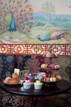 Tea at Laduree. Rue Royale, Paris.