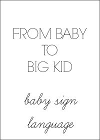 Wifessionals: From Baby To Big Kid: Baby Sign Language {Link Up}