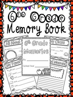 This 6th grade memory book is a fun and engaging way for your students to reflect on the year. Students will appreciate and cherish this book for years to come! Many pages to choose from!