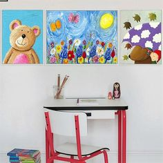 Beautiful Children Like Art. Paintings for Kids Rooms. Nursery Decor. Free Shipping