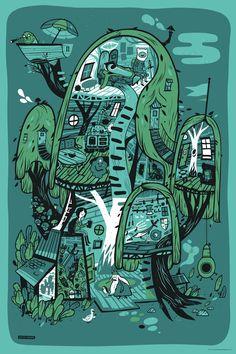 Three New Adventure Time Posters from Mondo (Onsale Info) - OMG Posters! Marceline, Adventure Time Poster, Abenteuerzeit Mit Finn Und Jake, Adveture Time, Arte Dope, Land Of Ooo, Finn The Human, Jake The Dogs, Illustration