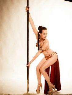 Slave Leia cosplay.