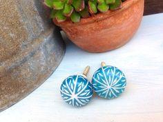 Retro Blue Flower KnobKitchen Cabinet by SimpleFindsCo on Etsy, $4.75