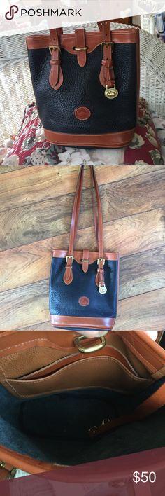 Vintage Downey & Bourke Bucket Bag Genuine leather smaller bucket bag. Excellent condition. Dooney & Bourke Bags Shoulder Bags
