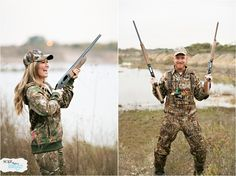Kara and Matt ...Save the date engagement shoot! Engagement Pictures ... Duck hunting!