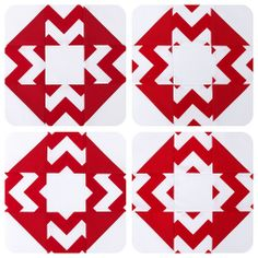Chevron print patchwork blocks