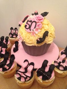 High heel shoes giant cupcake by Little Sugar Boutique