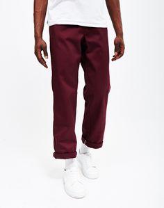 dickies mens burgundy trousers