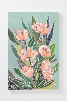 Flowers For Bobbsie By Lulie Wallace - Love this Artist, Charleston SC based and now selling at Anthropologie