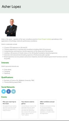 Arlo Presenter Profile  www.theheinekencompany.com Smart People, Management, Profile, Training, User Profile, Work Outs, Excercise, Onderwijs