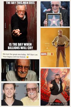 "Today, November 12, 2018, Stan ""The Man"" Lee passes away at age 95. This man has changed my life forever, and made me the person I am today. He was an inspiration and an idol and I hope he is in a better place. Pin this to your Marvel board in memory of him. 😭"