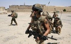 British paratroopers on patrol in Afghanistan