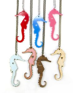 Seahorse necklace, $20, by UnpossibleCuts on Etsy - they make fantastic laser cut items