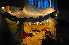 bed sheet fort 2...this looks like fuN!