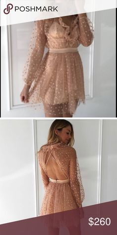For Love & Lemons All That Glitters Mini Dress Perfect condition. Only worn once for a couple hours by posher that I bought from. Never worn by me bc a little too big. Love this dress!!! Willing to sell OR trade. For Love And Lemons Dresses Mini