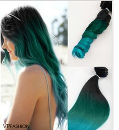 Top 5 black brown hair extensions with blue tips on blog off black to teal green to teal blue mermaid colorful ombre indian remy clip in hair looking for hair extensions to refresh your hair look instantly pmusecretfo Gallery