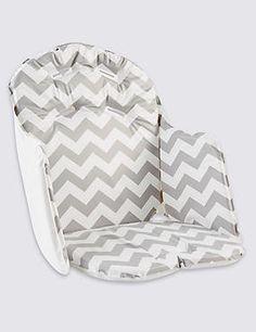 Chevron High Chair Cushion