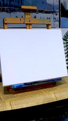 Simple Canvas Paintings, Diy Canvas Art, Art Painting Gallery, Canvas Painting Tutorials, Cool Art Drawings, Acrylic Art, Art Lessons, Watercolor Art, Videos