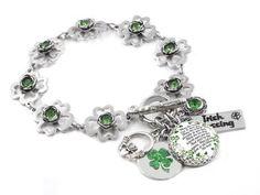 Clover Ring Luck of the Irish Four Leaf Clover Ring St Patricks Day ADJUSTABLE 14K Gold Rose Gold-Filled Sterling Silver Graduation
