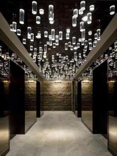 elevator lobby at the standard NY