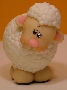 Sheep - MEIRE BARI - Chicago,USA - BISCUIT-PORCELANA FRIA-COLD PORCELAIN - Terra Fotolog: