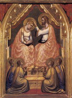 Giotto - Polittico Baroncelli (dettaglio) Incoronazione della  Virgine  - c.1334 - Cappella Baroncelli - Basilica di Santa Croce a Firenze