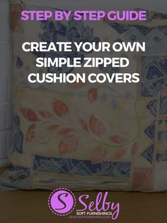 We've increased the difficulty a notch with this design, which incorporates a zip. It's more difficult than our simple cushion cover guide, which we recommend you try first if you're a beginner.     The finished scatter cushions will be around 18″x18″ and you'll need over a metre  of fabric for th