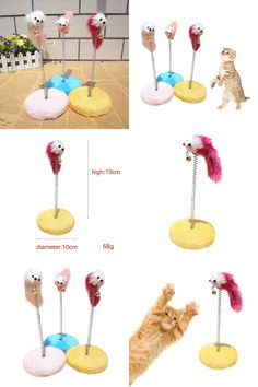 [Visit to Buy] Funny Circle Mouse Ball Plate Cat Sticks Toys Pet Climbing Frame Spring Bells Scratching Pad Posts Products Flying Disc SS2 #Advertisement