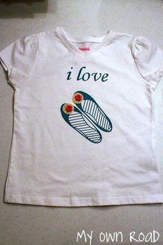 I Love Shoes Shirt {a Silhouette project} - heat transfer